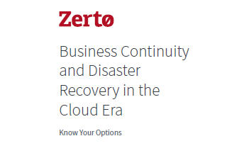 Zerto PTS disaster recovery