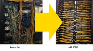 Data Cabling Before and After