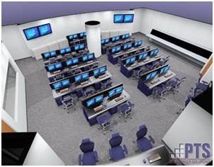 Command Center Furniture Design network operations center (noc) design services  pts data center