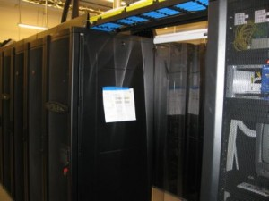 Data Center Hot Aisle Containment System Between Racks