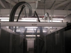 Data Center Hot Aisle Containment System End-of-Row