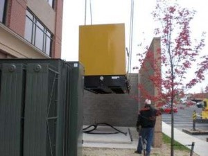Standby Generator Lift in Place