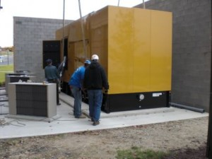 Data Center Standby Generator Rigging