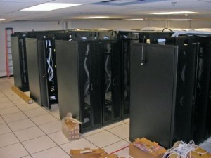 Data Center Structured Cabling Installation in Progress